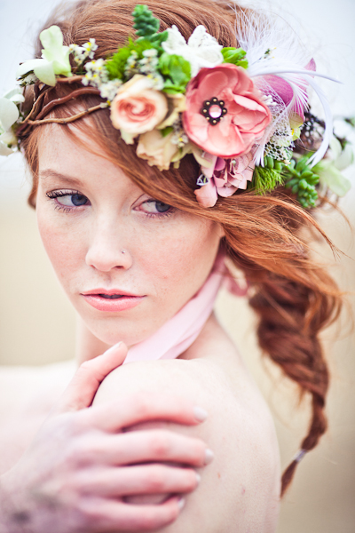 Floral hair arrangements